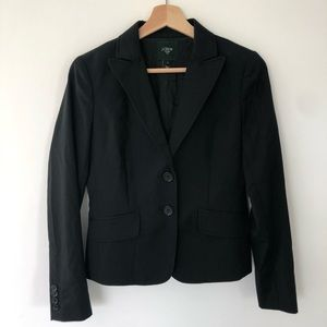 J Crew black suiting jacket and skirt size 0 2